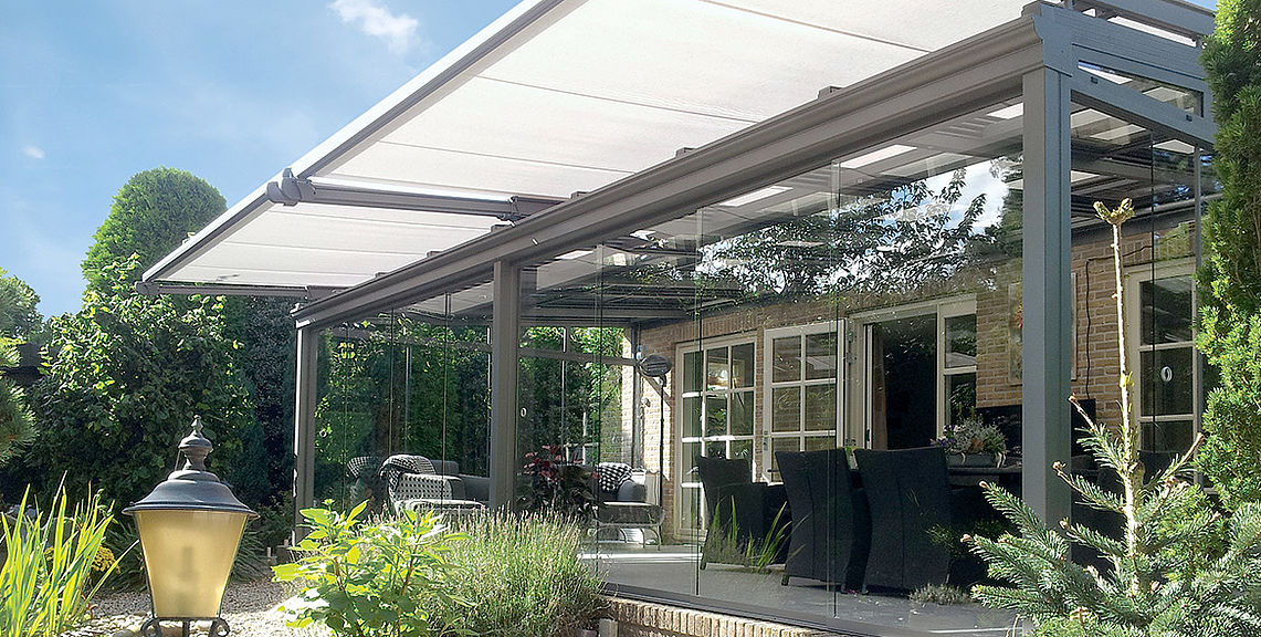 Conservatory shadings - TARGA-PLUS PS6100 | Sun Protection and Weather Protection with STOBAG